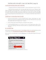 Hướng dẫn thi cấp trường tiếng Anh trên Interrnet