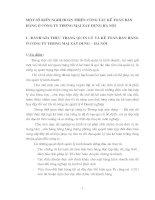 MỘT SỐ KIẾN NGHỊ HOÀN THIỆN CÔNG TÁC KẾ TOÁN BÁN HÀNG Ở CÔNG TY THƯƠNG MẠI XÂY DỰNG HÀ NỘI