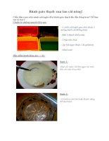 Bánh gato thạch xua tan cái nóng!