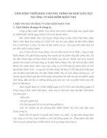 TÌNH HÌNH TRIỂN KHAI CHƯƠNG TRÌNH AN SINH GIÁO DỤC TẠI CÔNG TY BẢO HIỂM NHÂN THỌ