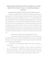 MỘT SỐ KIẾN NGHỊ NHẰM NÂNG CAO HIỆU QUẢ THẨM ĐỊNH TÍN DỤNG ĐẦU TƯ DỰ ÁN TẠI SỞ GIAO DỊCH I  NHCTVN