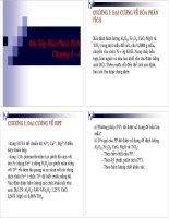 Bài tập hóa phân tích chương 1 - 4 có giải