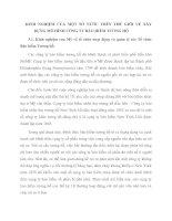 KINH NGHIỆM CỦA MỘT SỐ NƯỚC TRÊN THẾ GIỚI VỀ XÂY DỰNG MÔ HÌNH CÔNG TY BẢO HIỂM TƯƠNG HỖ