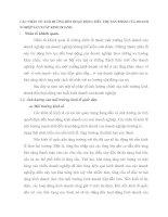 CÁC NHÂN TỐ ẢNH HƯỞNG ĐẾN HOẠT ĐỘNG TIÊU THỤ SẢN PHẨM CỦA DOANH NGHIỆP SẢN XUẤT KINH DOANH