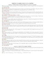 Bài tập tự luận Nhôm và kim loại IA IIA(Có đáp án)