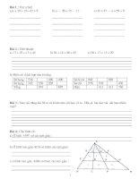 Bài tập toán nâng cao lớp 2