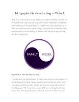 14 nguyên tắc thành công – Phần 1