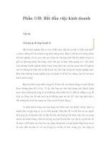 Phần 11B: Bắt đầu việc kinh doanh