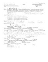 Đề thi trắc nghiệm Kiểm tra âm nhạc lớp 6 - Đề I
