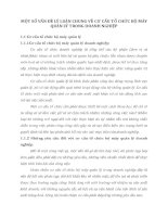 MỘT SỐ VẤN ĐỀ LÝ LUẬN CHUNG VỀ CƠ CẤU TỔ CHỨC BỘ MÁY QUẢN LÝ TRONG DOANH NGHIỆP
