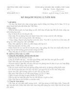 KẾ HOẠCH THÁNG 12 - TỔ 1