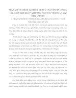 NHẬN XÉT VỀ CHẾ ĐỘ TÀI CHÍNH  KẾ TOÁN CỦA CÔNG TY  NHỮNG THUÂN LỢI  KHÓ KHĂN VÀ PHƯƠNG PHÁP HOÀN THIỆN CÁC GIẢI PHÁP CẢI TIẾN