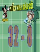 toán lớp 2 bài : 52 - 28