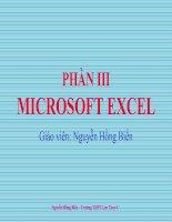 Giáo án nghề phổ thông (MS-Excel)