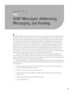 SOAP Messages - Addressing, Messaging, and Routing