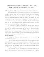 PHƯƠNG HƯỚNG VÀ BIỆN PHÁP PHÁT TRIỂN HOẠT ĐỘNG SẢN XUẤT KINH DOANH CỦA CÔNG TY