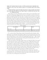 MỘT SỐ Ý KIẾN NHẰM TĂNG CƯỜNG KIỂM SOÁT NỘI BỘ CHU TRÌNH CUNG ỨNG TẠI TỔNG CÔNG TY CỔ PHẦN DỆT MAY HÒA THỌ