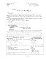 Giáo án Ngữ văn 7 chuẩn KTKN