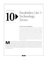 Vocabulary list 7 - Technology terms