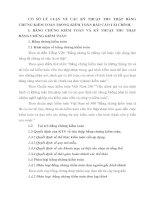 CƠ SỞ LÝ LUẬN VỀ CÁC KỸ THUẬT THU THẬP BẰNG CHỨNG KIỂM TOÁN TRONG KIỂM TOÁN BÁO CÁO TÀI CHÍNH