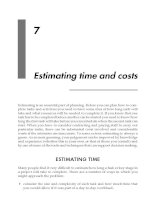 Estimating time and costs