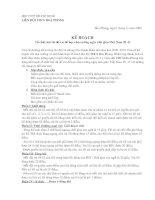 Kế hoạch tổ chức hội thi đố vui mừng 20-11