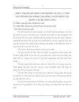 THỰC TRẠNG KẾ TOÁN CHI PHÍ SẢN XUẤT VÀ TÍNH GIÁ THÀNH SẢN PHẨM TẠI CÔNG TY CỔ PHẦN TẬP ĐOÀN Y DƯỢC BẢO LONG
