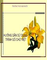 HD sử dụng trình gõ tiếng Việt trong Powerpoint