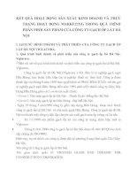 KẾT QUẢ HOẠT ĐỘNG SẢN XUẤT KINH DOANH VÀ THỰC TRẠNG HOẠT ĐỘNG MARKETING TRONG QUÁ TRÌNH PHÂN PHỐI SẢN PHẨM CỦA CÔNG TY GẠCH ỐP LÁT HÀ NỘI