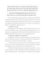 MỘT SỐ KIẾN NGHỊ VÀ GIẢI PHÁP GÓP PHẦN HẠN CHẾ RỦI RO TRƯỚC KHI CHO VAY TẠI NGÂN HÀNG PHÁT TRIỂN NHÀ ĐỒNG BẰNG SÔNG CỬU LONG