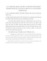 LỰA CHỌN HỆ THỐNG CHỈ TIÊU VÀ PHƯƠNG PHÁP THỐNG KÊ PHÂN TÍCH LÃI VÀ LÃI SUẤT CHO VAY CỦA NGÂN HÀNG THƯƠNG MẠI