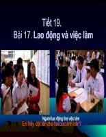 Bài 17.Lao động và việc làm