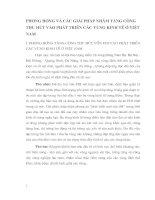 PHƯƠNG HƯỚNG VÀ CÁC GIẢI PHÁP NHẰM TĂNG CƯỜNG THU HÚT VÀO PHÁT TRIỂN CÁC VÙNG KINH TẾ Ở VIỆT NAM