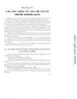 Các bài toán về tọa độ vector trong không gian