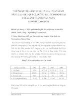NHỮNG KẾT QUẢ ĐẠT ĐƯỢC VÀ GIẢI  PHÁP NHẰM NÂNG CAO HIỆU QUẢ CỦA CÔNG TÁC THẨM ĐỊNH TẠI  CHI NHÁNH THÀNH CÔNG NGÂN HÀNGVIETCOMBANK