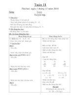 Giao an lop 2 Tuan 11(CKT- BVMT)