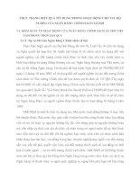 THỰC TRẠNG HIỆU QUẢ TÍN DỤNG TRONG HOẠT ĐỘNG CHO VAY HỘ NGHÈO CỦA NGÂN HÀNG CHÍNH SÁCH XÃ HỘI