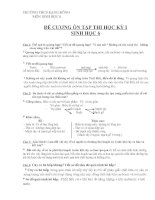 Đề cương ôn tập môn Sinh học 6(HK1)