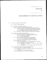 Management of air pollution