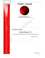 Study Guide Switching 3.0 (Building Cisco Multilayer Switched Networks)