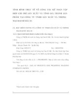 TÌNH  HÌNH  THỰC  TẾ  VỀ  CÔNG  TÁC  KẾ  TOÁN  TẬP HỢP  CHI  PHÍ  SẢN  XUẤT  VÀ  TÍNH  GIÁ  THÀNH  SẢN PHẨM  TẠI  CÔNG  TY  TNHH  SẢN  XUẤT  VÀ  THƯƠNG MẠI BAO BÌ HẢI ÂU