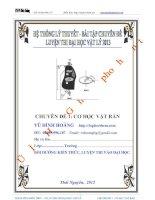 Tài liệu ôn thi đại học môn vật lý: Chuyên đề 1 - Cơ học vật rắn