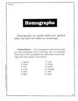 Vocabulary Builder - Homographs
