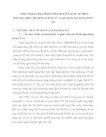 THỰC TRẠNG HOẠT ĐỘNG THANH TOÁN QUỐC TẾ THEO PHƯƠNG THỨC TÍN DỤNG CHỨNG TỪ  TẠI SGDI NGÂN HÀNG ĐTPT VN
