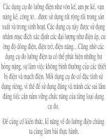 Tiet 4,5,6 - thuc hanh su dung dong ho dien