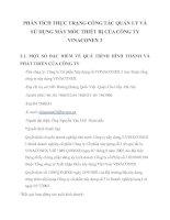 PHÂN TÍCH THỰC TRẠNG CÔNG TÁC QUẢN LÝ VÀ SỬ DỤNG MÁY MÓC THIẾT BỊ CỦA CÔNG TY VINACONEX 3
