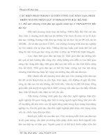 CÁC BIỆN PHÁP NHẰM CẢI TIẾN CÔNG TÁC ĐÀO TẠO, PHÁT TRIỂN NGUỒN NHÂN LỰC Ở NHNo&PTNT BẮC HÀ NỘI