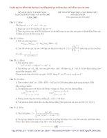 Tuyển tập các đề thi thử Đại Học Phần 1