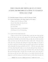 THỰC TRANG HỆ THỐNG QUẢN LÝ CHẤT LƯỢNG ISO 90012000 CỦA CÔNG TY CƠ KHÍ 25 TỔNG CỤC CNQP