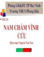 Tiet 23 Nam cham vinh cuu